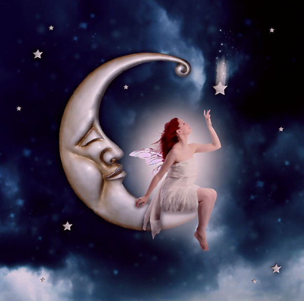 twinkle-star-girl-moon-sky