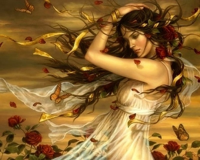 flowers-girl-hair-butterfly-wind